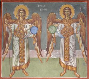 Άγγελλοι Κυρίου, ΒΑ Παραστάδα ιερού, Ν. πλευρά