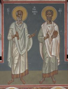 Αγ. Ανάργυροι, Κύρος και Ιωάννης, 2ο διάζωμα, ΒΑ κλίτος
