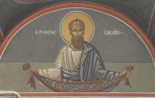 Αγ. Ελισαίος, Υπέρθυρο της εισόδου του κωδωνοστασίου