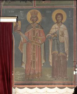 Αγ. Θεοδώρα η Αυγούστα και Αγ. Ειρήνη του Λικινίου, Μέτωπο Β. κεραίας, Βασ. Μπρούσαλης