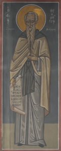 Αγ. Θεόδωρος ο κοινοβιάρχης, ΒΔ πεσσός,νότι α πλευρά, 3ο διάζωμα