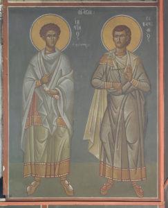 Αγ. Ιουστίνος ο Φιλόσοφος και Σεβαστιανός,3ο διάζωμα, Μέτωπο Β. κεραίας