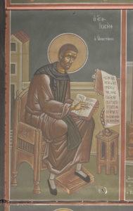 Αγ. Ιωσήφ ο Υμνογράφος, 2ο διάζωμα, Μέτωπο Β. κεραίας