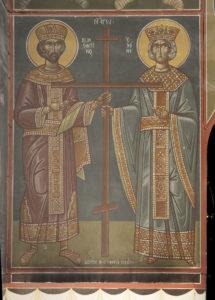 Αγ. Κωνσταντίνος και Ελένη, στο δεξιό Ν. κεραίας