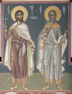 Αγ. Μηνάς Καλικέλαδος Αθηναίος και Αγ. Ερμήλος, ΝΑ κλίτος, 2ο άνω διάζωμα