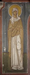 Η δικαία Ρεβέκκα, Β. τοίχος Γυναικωνίτη