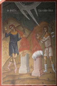 Η Θυσία των Κάιν και Άβελ, Υπέρθυρο του δεξιού ανοίγματος