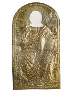 Ασημένιο πουκάμισο δεσποτικής εικόνας του Χριστού. [χ.χ.].