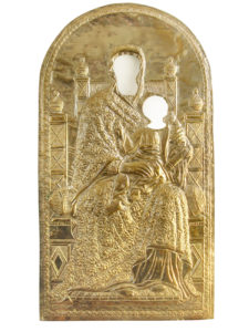 Ασημένιο πουκάμισο δεσποτικής εικόνας της Παναγίας.[χ.χ.].