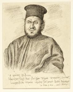 Ο Πατήρ Στέφανος Ζήτης, 1940. 18.00 x 14.00 εκ. Μελάνι σε χαρτί.