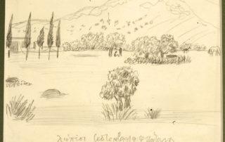 Λιόπεσι, Σεπτέμβριος 1939. 8.30 x 8.00 εκ. Μολύβι σε χαρτί.