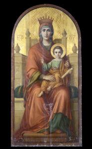 Μήτηρ Θεού, εικόνα τέμπλου, Αύγουστος Πικαρέλλης, 1907.
