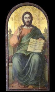 Ιησούς Χριστός, εικόνα τέμπλου, Αύγουστος Πικαρέλλης, 1907