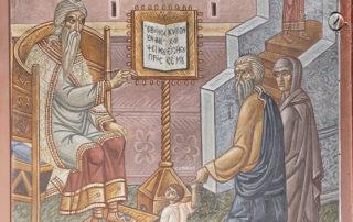 Ο Σαμουήλ λειτουργών εν τω ναώ του Κυρίου, Ιερό, Διακονικό, Βασίλειος Μπρούσαλης, 1960-1961.