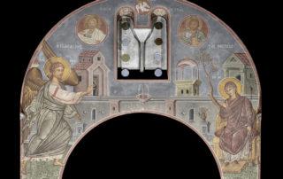 Ευαγγελισμός της Θεοτόκου, τύμπανο κόγχης του ιερού, Φώτης Κόντογλου, 1940.
