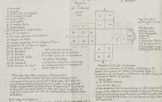 Σχέδια διάταξης τοιχογραφιών από τον Φ. Κόντογλου, 1946.
