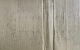 Σχέδια επέκτασης ναού, 1938.